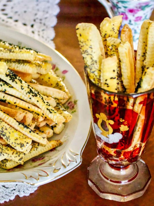 Cheese Straws With Feta And Poppy Seeds