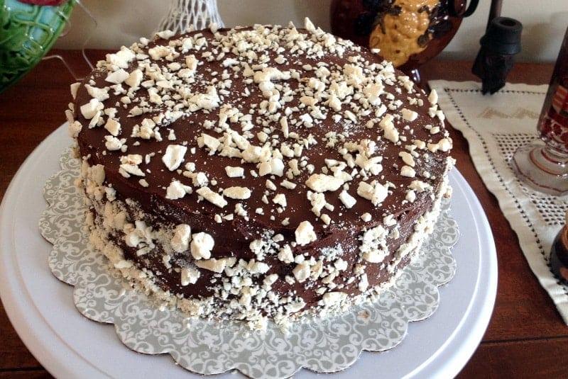 Chocolate Ganache Meringue Torte1