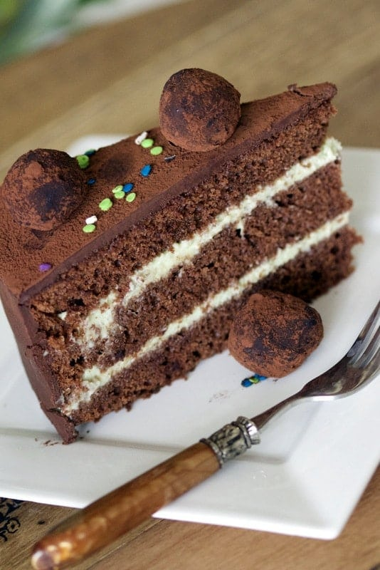 This Gourmet Chocolate Mint Cake is perfect for a birthday celebration/graduation party. The delicate flavor of mint combines perfect with the chocolate.