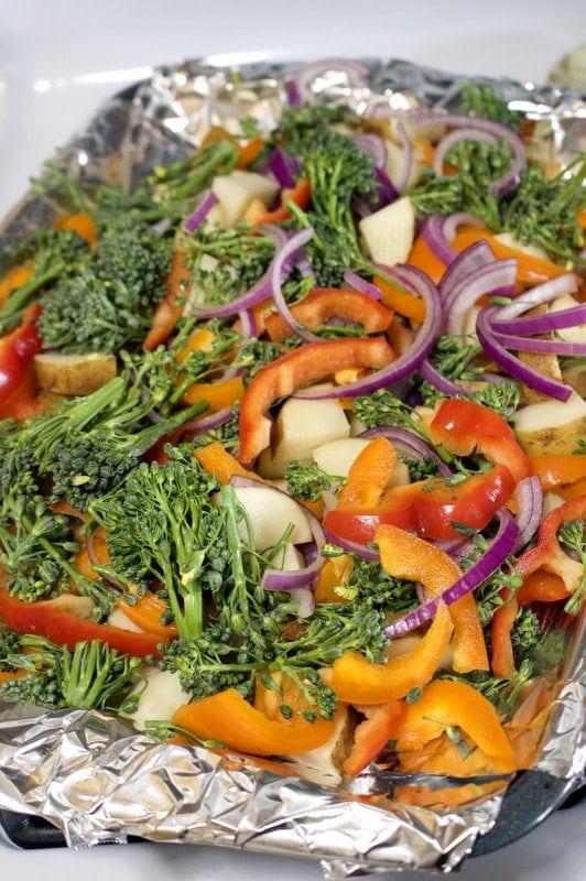 Pork Chops With Roasted Vegetables