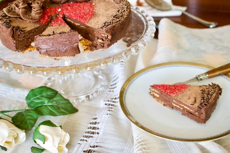 Classic European Chocolate Ganache Meringue Torte Recipe1