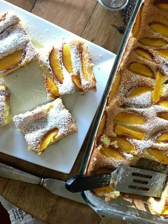 Easy Summer Old Fashion Peach Cake 1