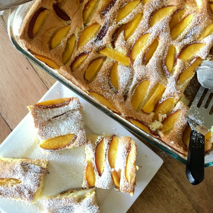 Easy Summer Old Fashion Peach Cake1 2