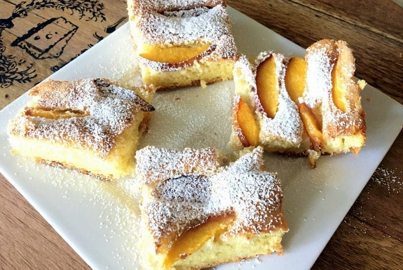 Easy Summer Old Fashioned Peach Cake - a summer recipe that is made with fresh fruits availbale in season.Use fruits according to your preference.