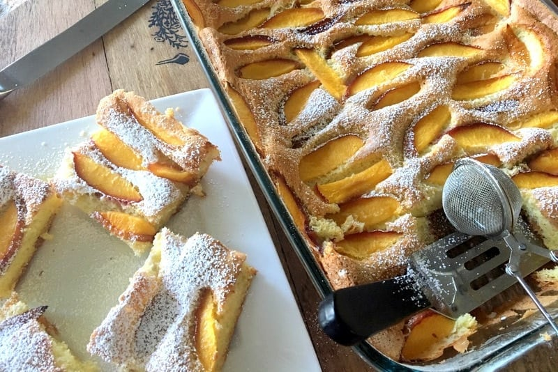 Easy Summer Old Fashion Peach Cake