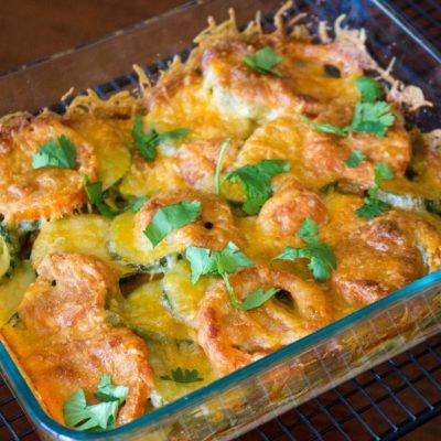 Baked Zucchini Tomato and Mozzarella Casserole