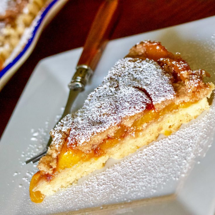 German Peach Kuchen