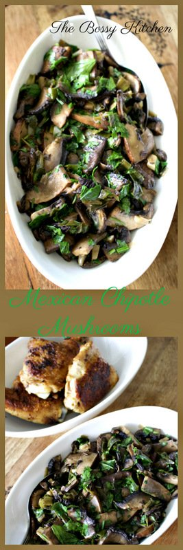 Mexican Chipotle Mushrooms is a wonderful recipe, very different, refreshing side dish that goes well with any type of meat. In tacos are great too.