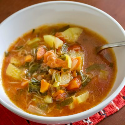 Tomato And Zucchini Summer Soup