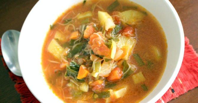 Tomato And Zucchini Summer Soup
