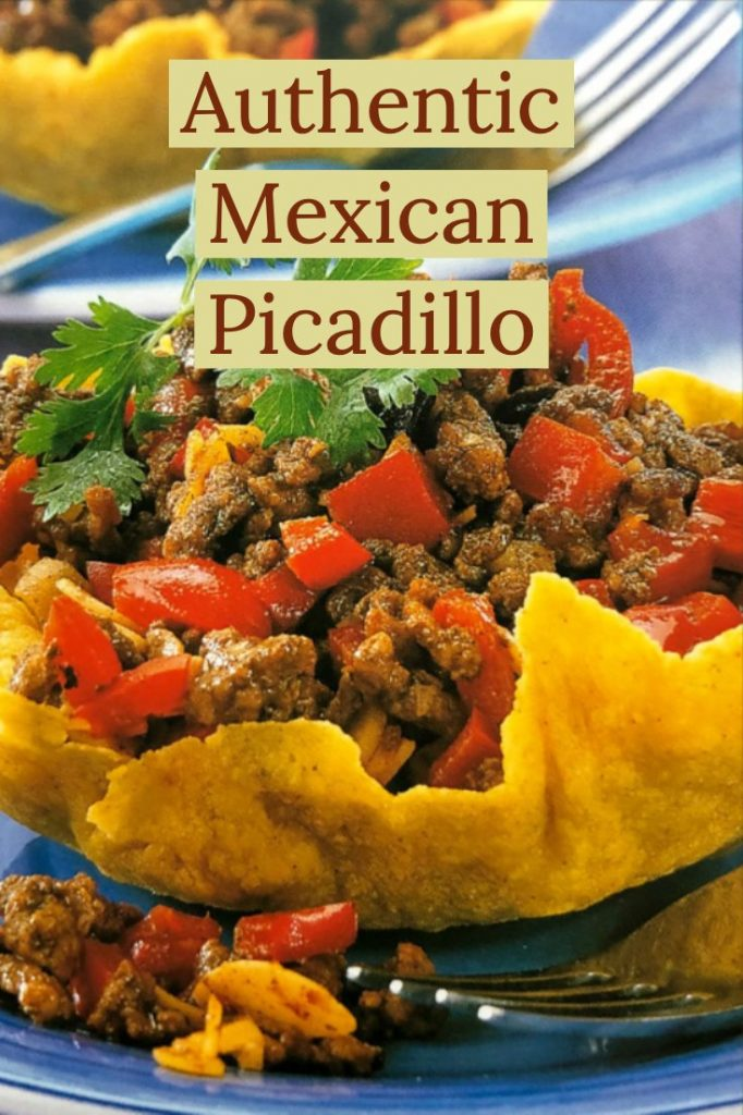 Authentic Mexican Picadillo - featured for pinterest