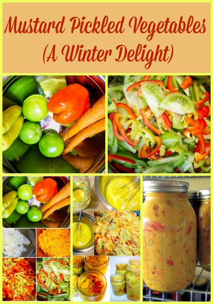Mustard Pickled Vegetables a winter delight