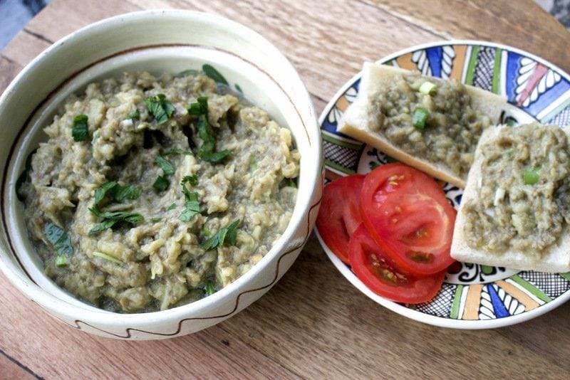Roasted Eggplant Salad- Romanian Style