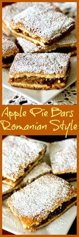 Apple Pie Bars- Romanian Slab Pie Recipe