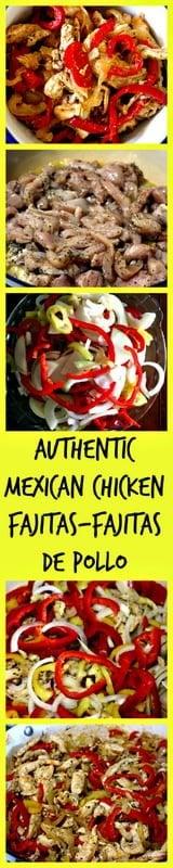 Authentic Mexican Chicken Fajitas-Fajitas De Pollo is a popular dish served in Mexico for casual entertaining. Easy to make and delicious.