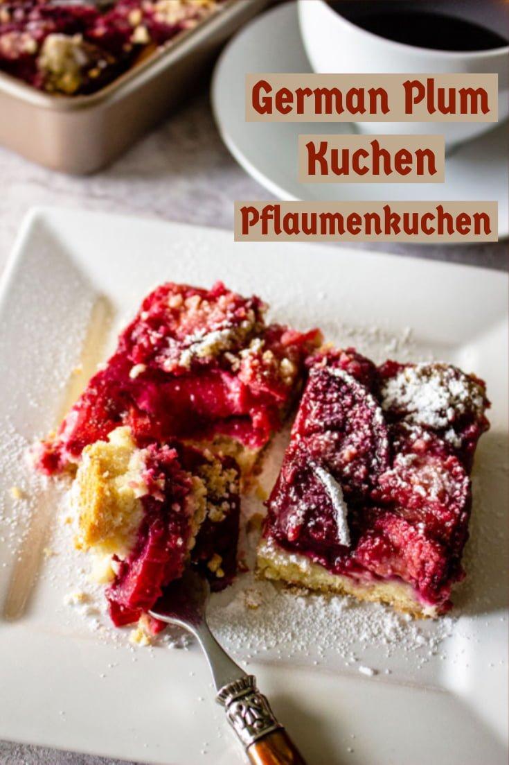 German Plum Kuchen Pflaumenkuchen 3