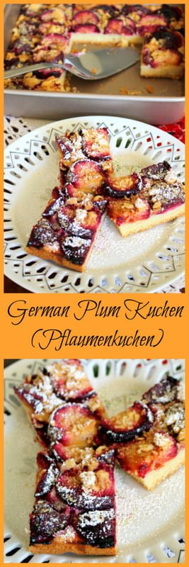 German Plum Kuchen- Pflaumenkuchen is a summer recipe that uses fresh plums in season. This Transylvanian recipe is easy to make and delicious.