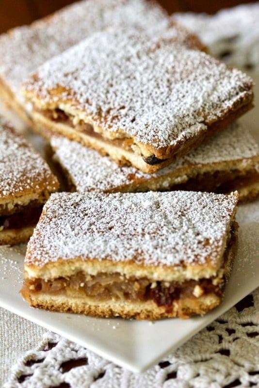 Apple Pie Bars- Romanian Slab Pie