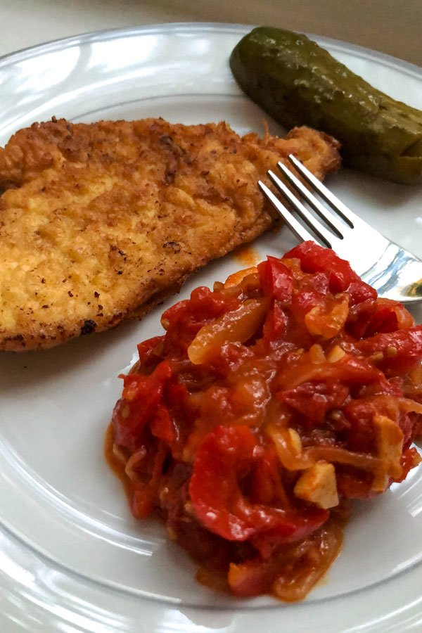 Lecsó- Hungarian Pepper-Tomato Stew