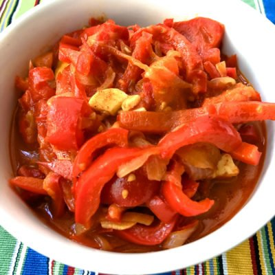 Lecsó- Hungarian Pepper-Tomato Stew