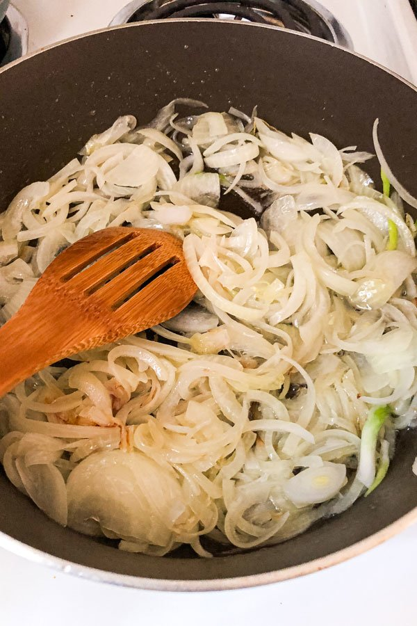 Cooked onion
