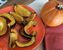 Roasted Kabocha Squash With Coconut Oil