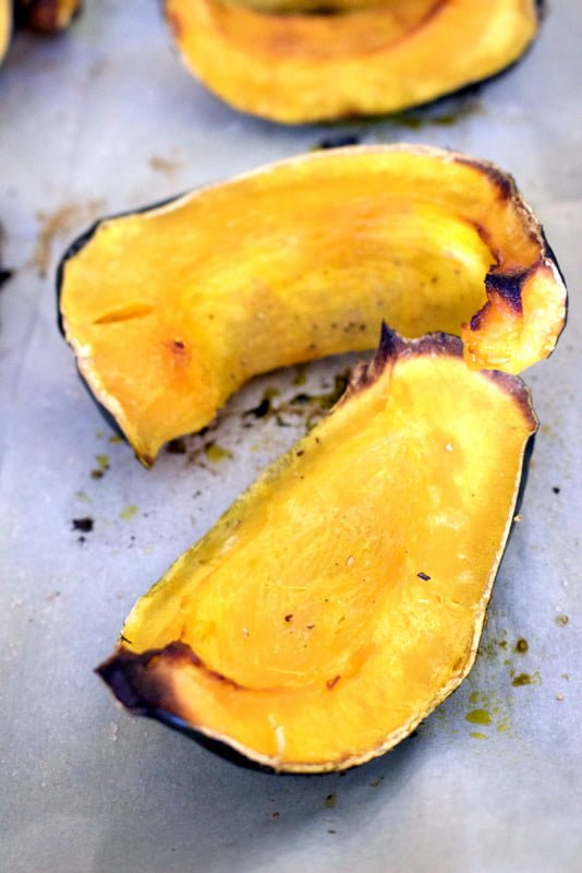 Roasted Kabotcha Squash With Coconut Oil is one of my favorite items on the table from October to December. Easy to make, elegant and delicious.