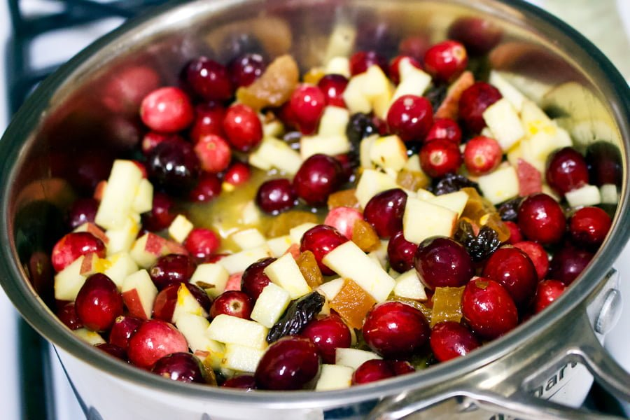 This Cranberry Chutney with Apples could be a delicious addition to your Thanksgiving meal. If you try this recipe you will never buy the cans again.