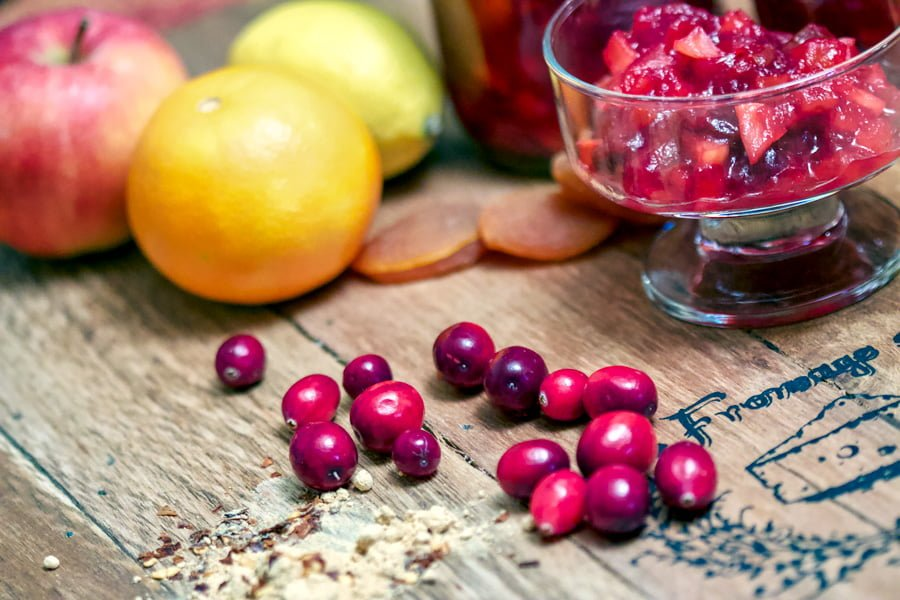 This Cranberry Chutney with Applescould be a delicious addition to every year Thanksgiving celebration. The combination of raisins, apples, dried apricots, orange juice and ginger is a symphony of flavors that will win your heart.If you try this recipe you will never buy the cans of cranberries again.