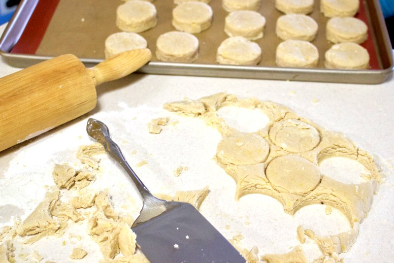 dough on the working table