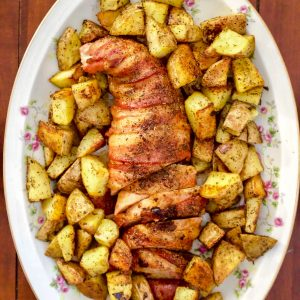 Roasted Bacon Wrapped Pork Tenderloin