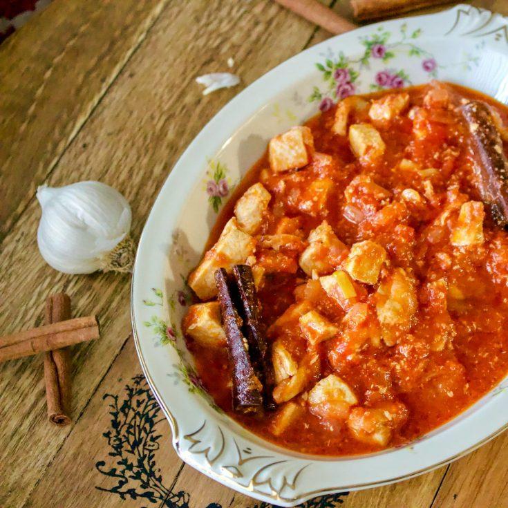 Cinnamon Tomato Chicken Stew