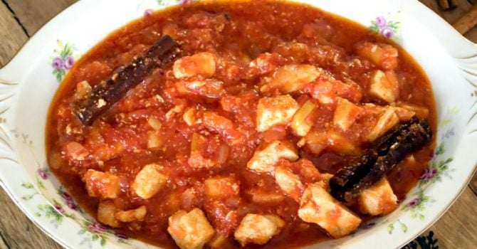 Cinnamon Tomato Chicken Stew