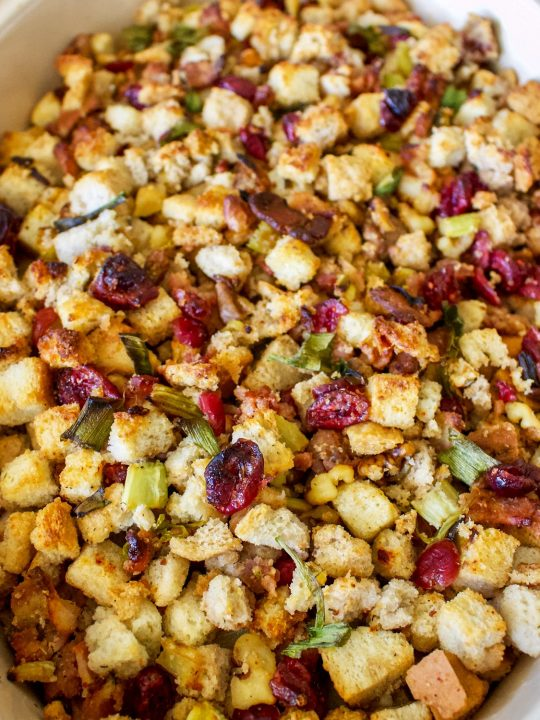 Easy Sausage Cranberries and Walnuts Stuffing