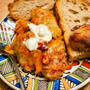 Authentic Romanian Sauerkraut Stuffed Cabbage Rolls