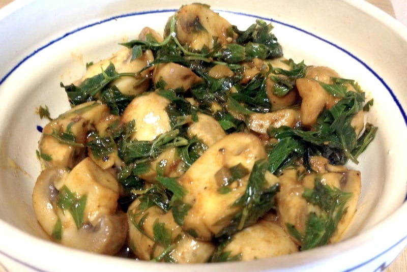 Champiñones Al Ajillo Spanish Lemon Garlic Mushrooms Tapas