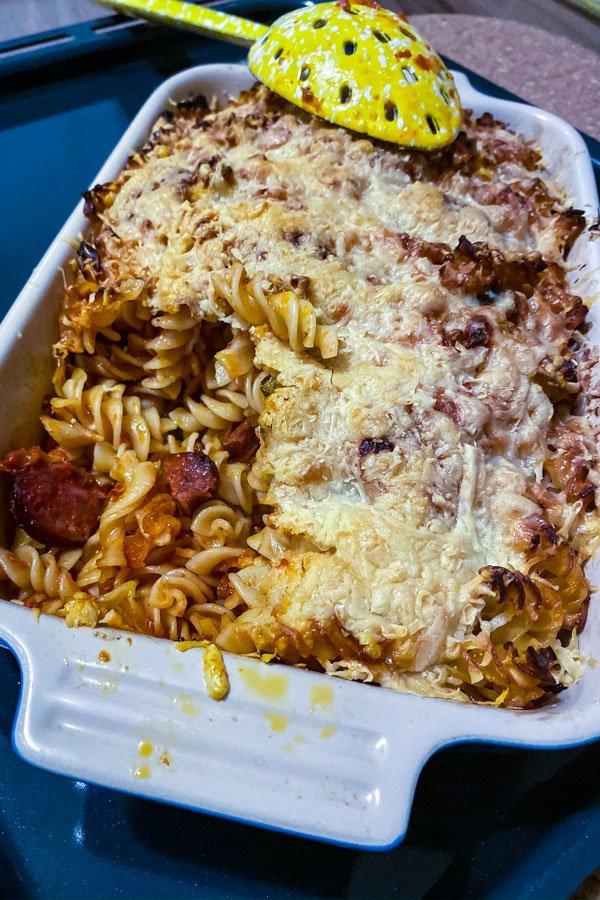 Cheesy Chorizo and Tomato Baked Pasta1111