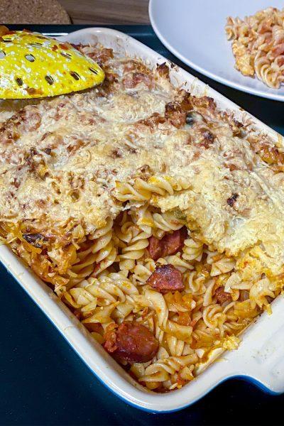 Cheesy Chorizo and Tomato Baked Pasta1313