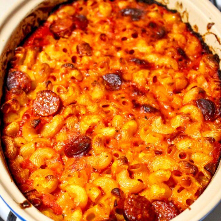 Cheesy Chorizo and Tomato Baked Pasta3 1