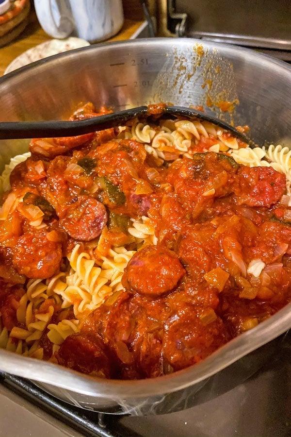 Cheesy Chorizo and Tomato Baked Pasta55