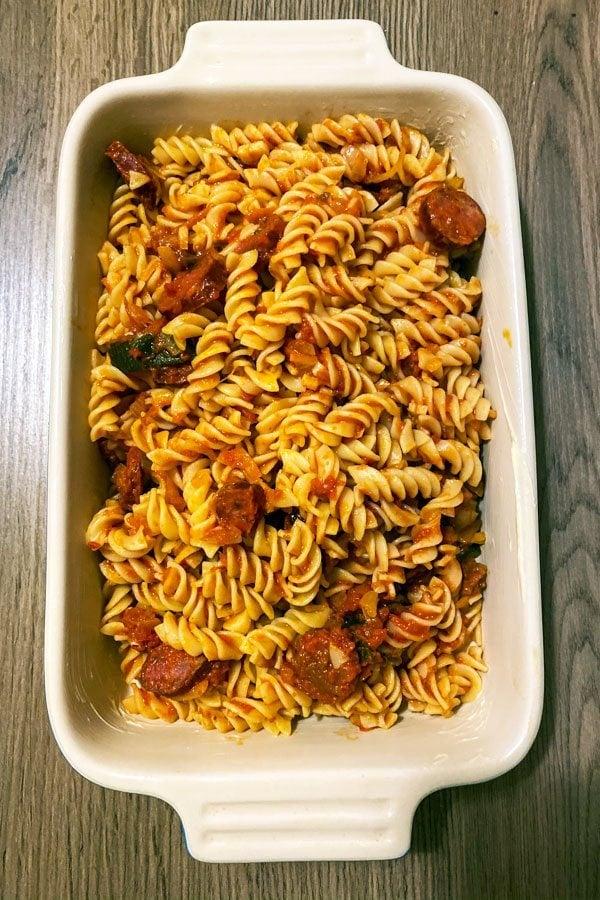 Cheesy Chorizo and Tomato Baked Pasta66