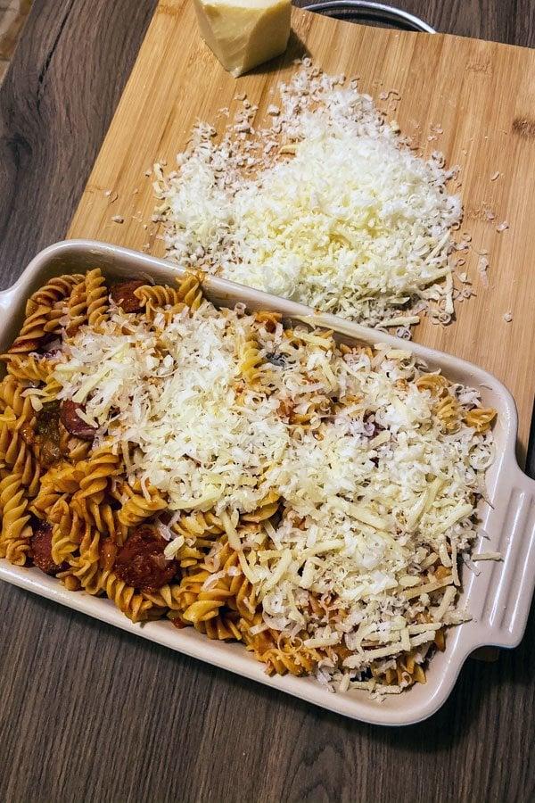 Cheesy Chorizo and Tomato Baked Pasta77