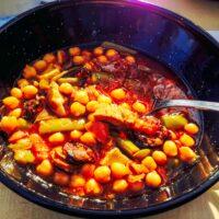 Chickpeas Green Beans With Pork And Spanish Chorizo