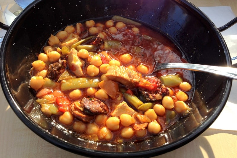 Chickpeas Green Beans With Pork And Spanish Chorizo1