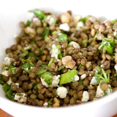 Lentil Feta Walnut Salad