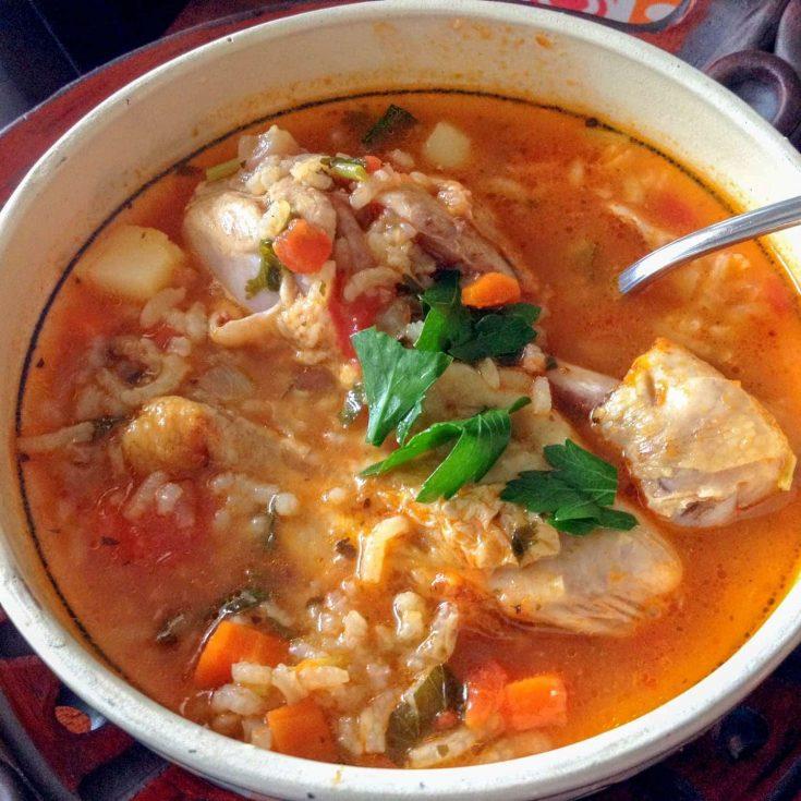 Mexican Caldo de Pollo Or Chicken Soup Mexican Style