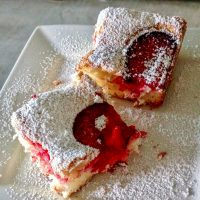 Easy Plum Coffee Cake-Summer Dessert