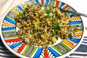 Quinoa Lentils Walnuts Salad