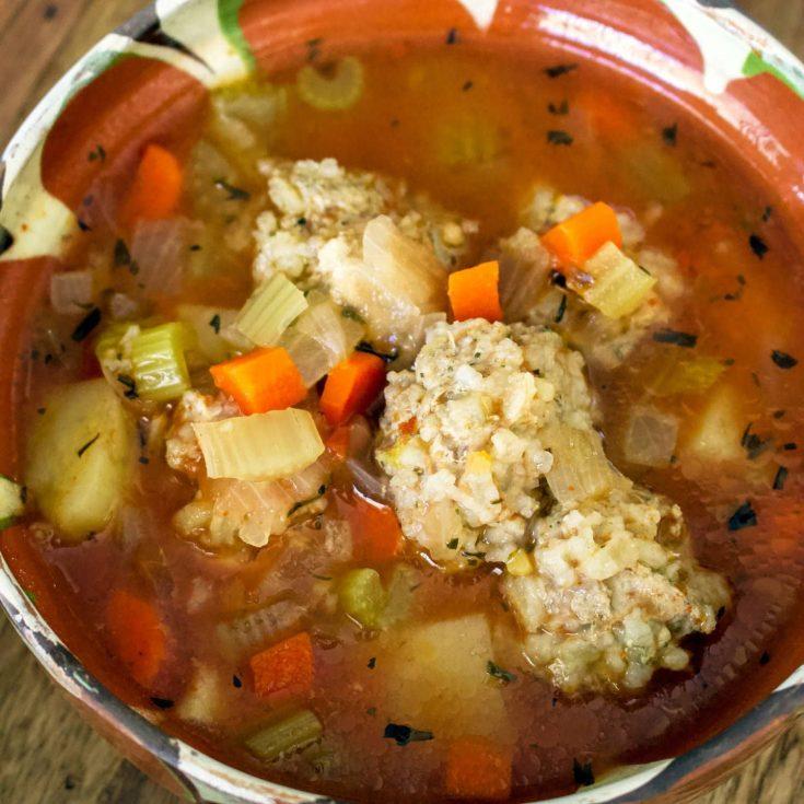 Romanian Meatballs Sour Soup (Ciorba De Perisoare)
