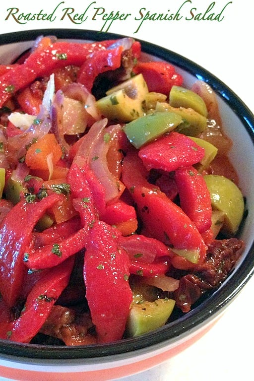 Roasted Red Pepper Spanish Salad
